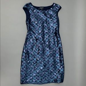 Connected Apparel Sexy Shine Mini Dress NWT